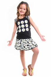Haven Girl Black & White Maia Top and Daisy Reversible Skirt<br>Sizes 4 - 10/12