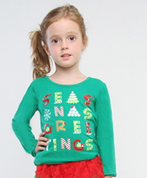 "Haven Girl Blarney ""Seasons Greetings"" Green Tee *FINAL SALE*"