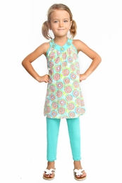 "Haven Girl ""Cupcakes Love"" Patch Tunic & Capri Legging Two Piece Set<br>Sizes 7/8 - 14"