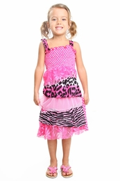 "Haven Girl ""Pink Ladies"" Pink Patch Paloma KNIT Sun Dress<br>Sizes 4 - 10/12"