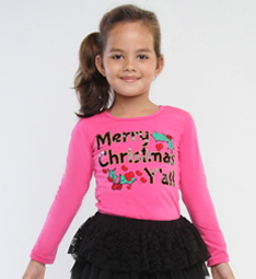 "Haven Girl Pink Merry Christmas Y'all"" Tee *FINAL SALE*"
