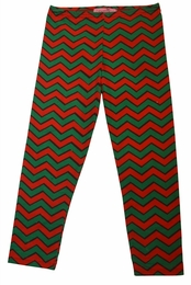 Haven Girl Red Blarney Chevron Full Length Leggings *FINAL SALE*