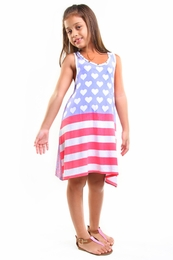 Haven Girl Red, White and Blue Kensie HOLIDAY Dress<br>Sizes 5 - 6X