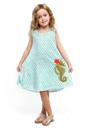 "Haven Girl ""Under the Sea"" Mermaid Audrey Swing Dress"
