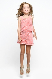 "Haven Girl ""Under the Sea"" Sweet Salmon Bianca Romper"