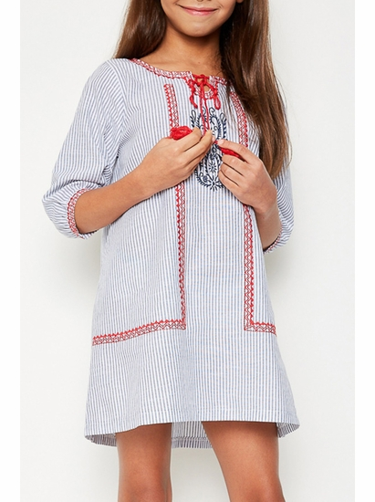 Hayden Light Denim Embroidered Tunic Dress *FLYING FAST!