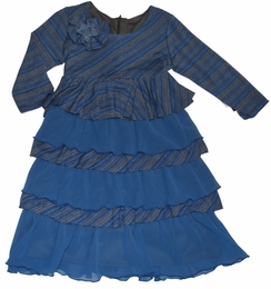 "Isobella & Chloe ""Azure Sky"" Beautiful Blue Tiered Dress"