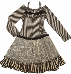 "Isobella & Chloe ""Beverly"" Must-Have Chocolate Stripe Dress"