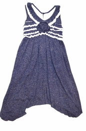 "Isobella & Chloe ""Bonnie Blue"" Nautical Navy Super Soft Dress"