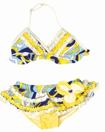 """Isobella & Chloe """"Caribbean Current"""" Sassy Two Piece Skirted Bikini Swimsuit-SOLD OUT!"""