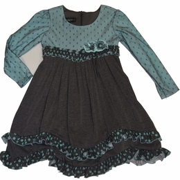 "Isobella & Chloe ""Caspian Sea"" Turquoise Twirling Dress<br>*PREORDER*"