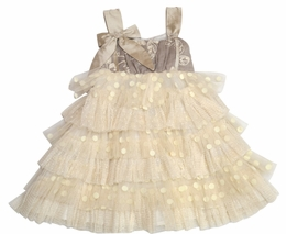 "Isobella & Chloe ""Cre�me Brulee"" Stunning Tiered Dress<br>Sizes 12m - 4T"