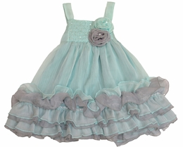 "Isobella & Chloe ""Crystal Cove"" Stunning Ruffle Dress<br>Sizes 2T - 10"