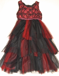 "Isobella & Chloe ""Desert Fire"" Stunning Ruby Red Empire Waist Dress<br>*PREORDER*"