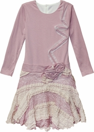 "Isobella & Chloe Lavender ""Genevieve"" Beautiful Twirling Knit Dress"
