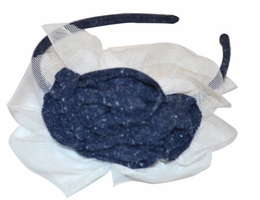 Isobella & Chloe Navy Headband<br>One Size