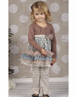 "Isobella & Chloe ""Nutmeg"" Long Sleeve Pant Two Piece Swing Set *SIZE 3T"