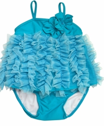 "Isobella & Chloe ""Ocean Breeze"" Teal Two Piece Sassy Tankini"