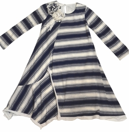 "Isobella & Chloe ""Penny Lane"" Back to School Precious Navy Stripe Dress"