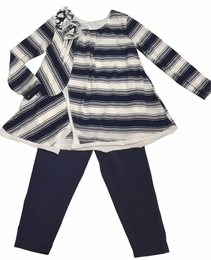 "Isobella & Chloe ""Penny Lane"" Navy Back to School Tunic & Legging Set"