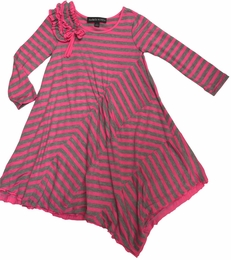"Isobella & Chloe ""Pink-A-Boo"" Striped Asymmetrical Knit Dress *PREORDER*"