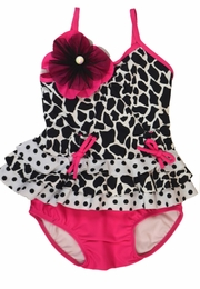 "Isobella & Chloe Precious ""Surfin' Safari"" Two Piece Tankini Swimsuit<br>Sizes 12m - 6x"