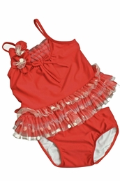 "Isobella & Chloe ""Radiant Red"" Two Piece Tankini"