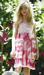 "Isobella & Chloe Raspberry ""Sweet Caroline"" Dress<br>Sizes 4-14"