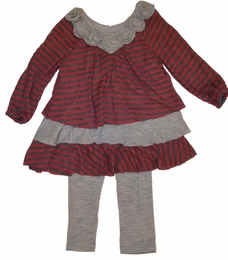 "Isobella & Chloe ""Sammy"" Knit Burgundy Tunic and Legging Two Piece Set *FINAL SALE*"