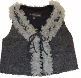 "Isobella & Chloe ""Sandra"" Silky Soft Charcoal Versatile Vest *FINAL SALE* SOLD OUT!"