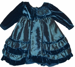 "Isobella & Chloe ""Sapphire"" Gorgeous Velour Empire Waist Dress"