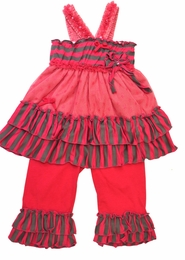 "Isobella & Chloe ""Sassy Sarah"" Crossback Knit Two Piece Tunic and Pant Set<br>Sizes 12m - 4T"
