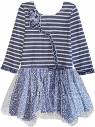 "Isobella & Chloe ""Snow Fairy"" Stripe Dress"