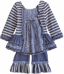 "Isobella & Chloe ""Snow Fairy"" Two Piece Stripe Swing Set ""PREORDER"""