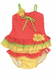 "Isobella & Chloe ""Starfruit"" Watermelon Tankini Swimsuit<br>Sizes 12m - 4T"