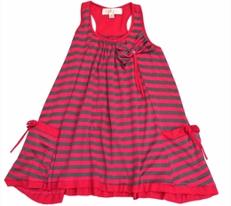 "Isobella & Chloe Super Soft and Cozy ""Jersey Girl"" Pink A-Line Dress<br>Sizes 4-14"