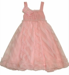 "Isobella & Chloe ""Sweet Annie"" Pink Empire Waist Dress"