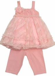 "Isobella & Chloe ""Sweet Annie"" Pink Two Piece Pant Set"