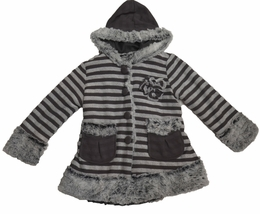 "Isobella & Chloe ""Taylor"" Perfectly Striped Minky Soft Coat<br>*PREORDER*"
