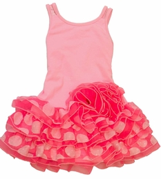 "Isobella & Chloe ""Tiny Dancer"" Pink Drop Waist Dotty Dress<br>Sizes 12m - 6X"