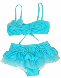 "Isobella & Chloe Turquoise ""Ocean Plunge"" Two Piece Bikini<br>Sizes 4 - 10"