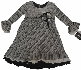"Isobella & Chloe ""Whirlwind"" Empire Wasit Grey Dress<br>*PREORDER*"