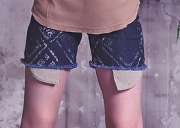"Jak & Peppar Celtic Dark Wash ""Ringo"" Cutoffs"