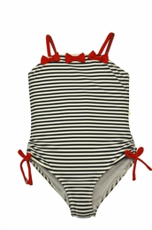 "Kate Mack ""Bateau L'Amour"" Navy Stripe One Piece Swim Tank"