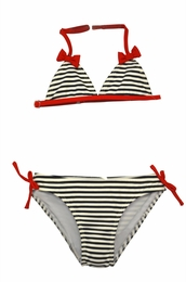 "Kate Mack ""Bateau L'Amour"" Navy Stripe Swim Bikini"