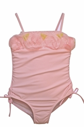 "Kate Mack Beautiful Ballet Pink ""Secret Garden"" Tank Swimsuit <Br>Sizes 4 & 5"
