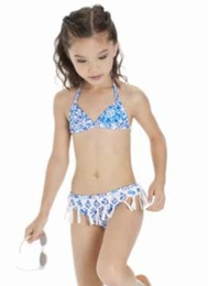 "Kate Mack ""Butterfly Beach"" Blue Sassy Bikini Swimsuit"