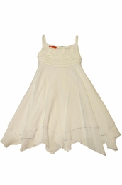 "Kate Mack ""Butteryfly Beach"" White Beach Gauze Dress"