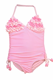 "Kate Mack ""Candy Carnival"" Pink One Piece Tank Swimsuit<Br>Sizes 5 - 10"