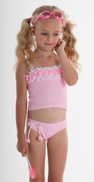 "Kate Mack ""Candy Carnival"" Pretty Pink Tankini Swimsuit<Br>Sizes 2T - 6X"